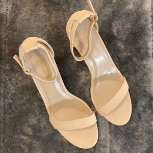 Women's Chunk Low Heel Pump Sandals